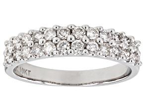 Pre-Owned White Diamond 10K White Gold Band Ring 0.50ctw