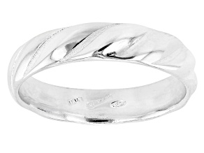 Pre-Owned Sterling Silver Symmetric Design Band Ring