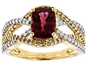 Pre-Owned Pink Tourmaline 14k Yellow Gold Ring 1.77ctw