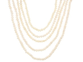 Pre-Owned 4-5mm White Cultured Freshwater Pearl Endless Necklace Set of Five
