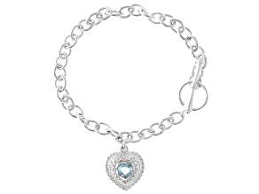 Pre-Owned Sky Blue Topaz Sterling Silver Bracelet 0.70ctw