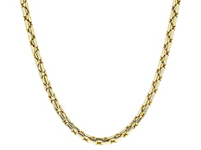 Pre-Owned 18k Yellow Gold Over Bronze Snake Chain Necklace 20 inch