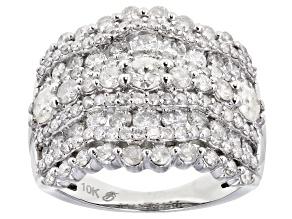 Pre-Owned White Diamond 10K White Gold Cocktail Ring 2.50ctw