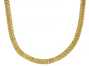 Pre-Owned 18K Yellow Gold Over Sterling Silver 4.85MM Flat Box Chain 20 Inch Necklace