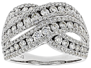 Picture of Pre-Owned White Lab-Grown Diamond 14K White Gold Ring 2.00ctw