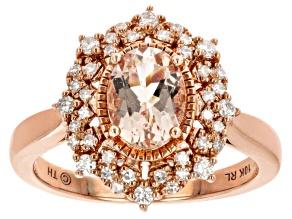 Pre-Owned Pink Morganite 10k Rose Gold Ring 1.10ctw