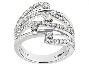 Pre-Owned Moissanite Platineve Ring 1.21ctw D.E.W