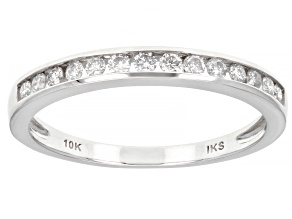 Pre-Owned White Diamond 10K White Gold Band Ring 0.25ctw