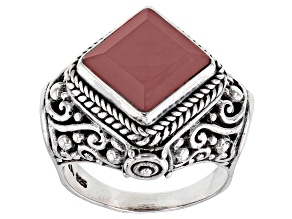 Pre-Owned Ballet Blush Quartz Silver Ring