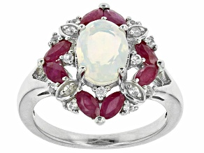 Pre-Owned Ethiopian Opal Sterling Silver Ring 1.47ctw