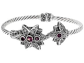 Pre-Owned Wild Side™ Mystic Topaz® Silver Bracelet 1.41ctw