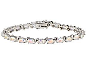 Pre-Owned Multicolor Mercury Mist(R) topaz rhodium over silver bracelet 10.23ctw