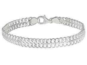 Pre-Owned Sterling Silver 7.50MM Domed Infinity Link Bracelet
