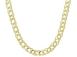 Pre-Owned Splendido Oro™ 14K Yellow Gold 4.85MM Double Cuban Chain 18 Inch Necklace