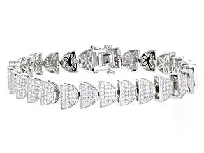 Pre-Owned White Cubic Zirconia Rhodium Over Sterling Silver Bracelet 7.50ctw