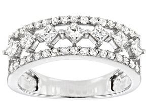Pre-Owned White Diamond 10K White Gold Ring 0.83ctw