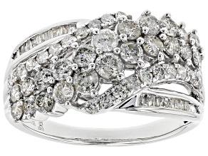 Pre-Owned White Diamond 10k White Gold Ring 1.50ctw