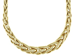 """Pre-Owned 10K Yellow Gold Graduated Spiga 17"""" Necklace"""