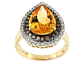 Pre-Owned Golden Citrine 14k Yellow Gold Ring 4.98ctw