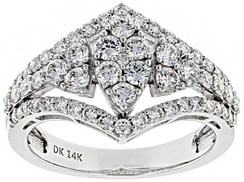 Picture of Pre-Owned White Lab-Grown Diamond 14K White Gold Cocktail Ring 1.25ctw