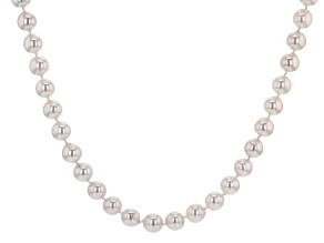 Pre-Owned White Cultured Japanese Akoya Pearl 14k Yellow Gold 18 Inch Strand Necklace