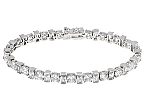 Pre-Owned Cubic Zirconia Rhodium Over Sterling Silver Bracelet 26.89ctw (16.26ctw DEW)