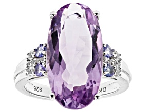 Pre-Owned Lavender Amethyst Rhodium Over Sterling Silver Ring 8.17ctw