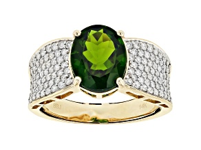 Pre-Owned Green Chrome Diopside 14k Yellow Gold Ring 2.66ctw