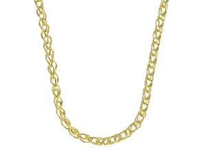 Pre-Owned 10K Yellow Gold 3.35MM Diamond-Cut Spiga 24 Inch Necklace