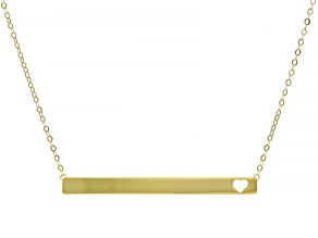 Pre-Owned Splendido Oro™ 14K Yellow Gold Bar Love 18 Inch Cable Chain Necklace