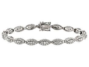 Pre-Owned White Lab-Grown Diamond 14K White Gold Bracelet 3.15ctw