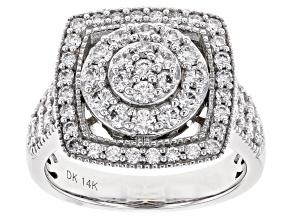 Pre-Owned White Lab-Grown Diamond 14K White Gold Ring 1.40ctw