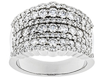 Picture of Pre-Owned White Lab-Grown Diamond 14K White Gold Band Ring 2.00ctw