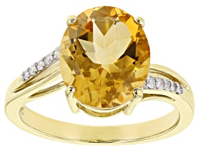Pre-Owned Golden Citrine 10k Yellow Gold Ring 4.08ctw