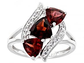Pre-Owned Vermelho Garnet™ Rhodium Over Sterling Silver Ring 2.63ctw