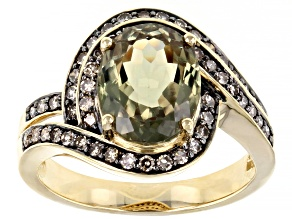 Pre-Owned Color Change Turkish Diaspore 14k Yellow Gold Ring 2.43ctw