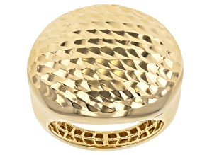 Pre-Owned Moda Al Massimo™ 18K Yellow Gold Over Bronze Hammered Dome Ring