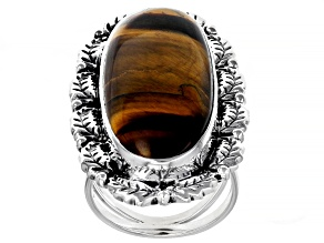 Pre-Owned Tigers Eye Sterling Silver Ring