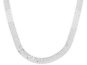Pre-Owned Sterling Silver Diamond-Cut Multi-Row Box Chain