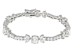Pre-Owned Cubic Zirconia Rhodium Over Sterling Silver Bracelet 14.96ctw (9.90ctw DEW)