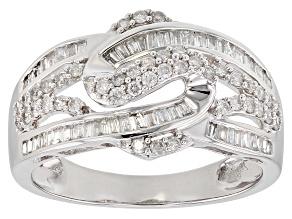 Pre-Owned White Diamond 10k White Gold Ring 0.62ctw