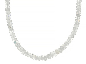 Pre-Owned Rondelle Rainbow Moonstone Beaded Necklace