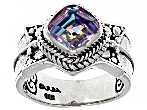Pre-Owned Pink Vapor™ Quartz Silver Ring 1.85ct