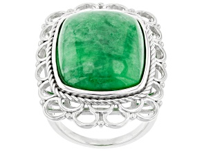 Pre-Owned Jadeite Sterling Silver Ring