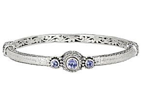 Pre-Owned Blue Tanzanite Sterling Silver Bangle Bracelet .73ctw