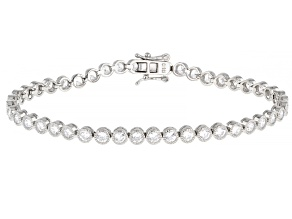 Pre-Owned White Cubic Zirconia Platinum Over Sterling Silver Bracelet 7.92ctw