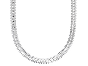 Pre-Owned Sterling Silver 3.40MM Flat Snake 20 Inch Necklace