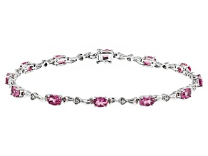 Pre-Owned Pink Tourmaline Sterling Silver Bracelet 4.17ctw