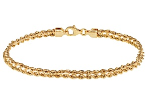 Pre-Owned 14k Yellow Gold Hollow Rope Bracelet 8 inch