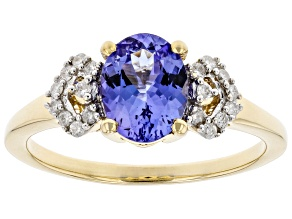 Pre-Owned Blue Tanzanite 10K Yellow Gold Ring 1.16ctw